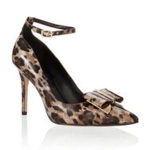 White House Black Market Leopard Sienna Heels